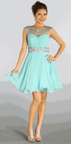 baby-blue sweet-sixteen dress #sweet16