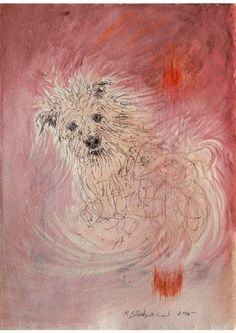 "Saatchi Art Artist Remigiusz Dobrowolski; Painting, ""Dog at sunrise or sunset ...? that is the question...- sunset"" #art"