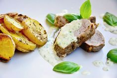 Plnený špenátový wrap kuracími prsiami a zeleninou Baked Potato, Potatoes, Baking, Ethnic Recipes, Food, Essen, Bread Making, Meal, Patisserie