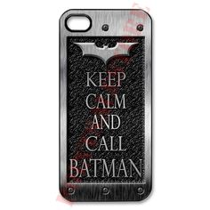 Keep Calm and call batman iphone 5 case Black, white case available