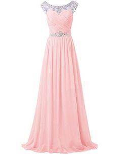Tidetell Elegant Rhinstone Prom Floor Length Chiffon Bridesmaid Formal Dress Pink Size 2 Tidetell http://www.amazon.com/dp/B00PGX38BY/ref=cm_sw_r_pi_dp_UIlSub1P66MYK