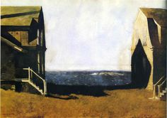 """""""サマーハウス、冬ハウス"""", 1975 バイ Jamie Wyeth"""