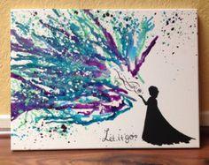 Frozen crayon art, let it go