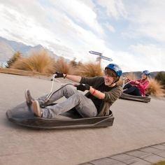 Insane luge rides, Bob's Peak, Queenstown