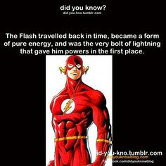 The Flash, an enigma wrapped in a mystery tied with a puzzel, deep fried in a conundrum blazing through a maze.