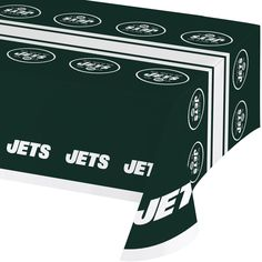 NFL 54 x 102 Plastic Tablecover All Over Print New York Jets/Case of 12 Tags: New York Jets; Tablecover; NFL Tableware; New York Jets party;New York Jets party tableware;New York Jets Tablecover; https://www.ktsupply.com/products/32786326550/NFL-54-x-102-Plastic-Tablecover-All-Over-Print-New-York-JetsCase-of-12.html