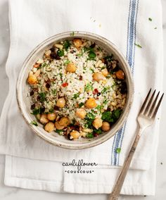 "Spiced cauliflower ""couscous"""