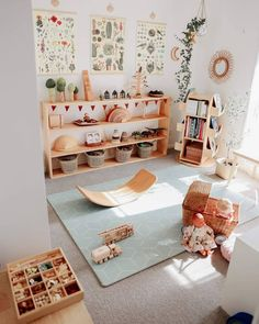 35 Favorite Playroom Design Ideas Must Have For Tiny Spaces - Having a kids playroom has many benefits. To begin with, you'll have a charming and pleasant environment where your little one may spend most of the t. Montessori Playroom, Toddler Playroom, Waldorf Playroom, Play Room Kids, Ikea Kids Playroom, Modern Playroom, Montessori Baby, Toddler Bed, Playroom Design