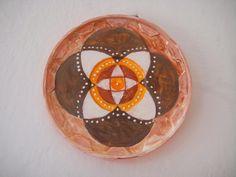 Eco Arte-Lia Batista: Transformando tampa plástica em mandala