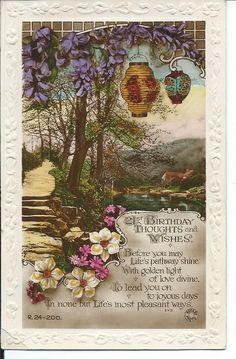 Unusual vintage 21st birthday card. 1920s.