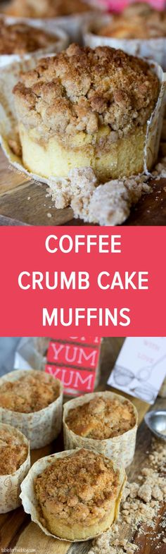New York-Style Coffee Cake Crumb Muffins from www.tablefortwoblog.com