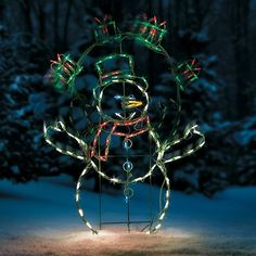 the proline animated juggling snowman led outdoor christmas decoration appears to be juggling 3 green and