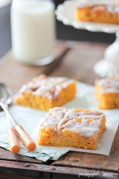 Cinnamon Roll Pumpkin Vanilla Sheet Cake - Picky Palate
