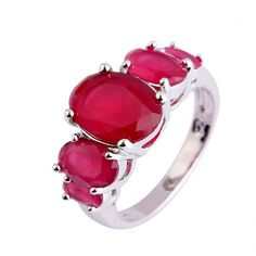 Aurora -  Ruby White Gold Cocktail Ring