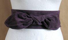 Extra wide vintage purple belt by vintachi on Etsy, $14.99