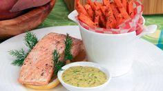 Cowboy Style Salmon and sweet potato fries