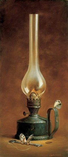 Antique Oil Lamps, Old Lamps, Antique Lighting, Vintage Lamps, Lantern Lamp, Candle Lamp, Still Life Photos, Still Life Art, Oil Paintings