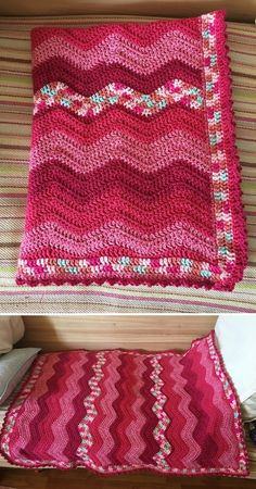 Easy Crochet, Crochet Baby, Free Crochet, Knit Crochet, Crochet Ripple Blanket, Afghan Crochet Patterns, Crochet Blankets, Crochet Projects, Crochet Ideas