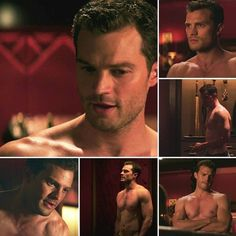 I'd worship the ground he walked on! All he'd have to say is jump and I'd ask how high! 50 Shades Trilogy, Fifty Shades Series, Fifty Shades Movie, 50 Shades Freed, Fifty Shades Darker, Fifty Shades Of Grey, Christian Grey, Jamie Dornan, Estilo Dakota Johnson