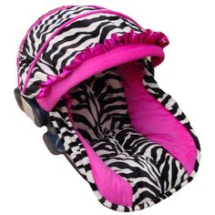 crib mobile, zebra and dark pink' | ... Car Seat Replacement Covers Hot Pink and Zebra at Quilts Just 4 Kids