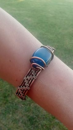 Copper wire braceletHandmade copper bracelet with by Tangledworld