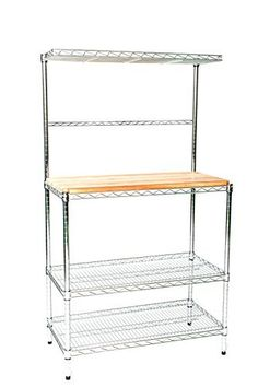 12 Deep X 24 Wide 74 High Chrome Bakers Rack With Top Kitchen Pantry Storagekitchen Cartskitchen