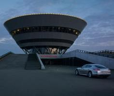 Porsche's plant in Leipzig courts 500 event and meeting groups annually to its dramatic, diamond-shaped facility, where event spaces in various sizes and styles fill multiple stories.