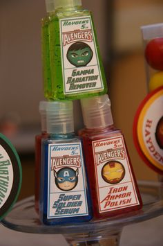 Avengers Party Favors  5 Mini hand sanitizers by shopmyetsyshop