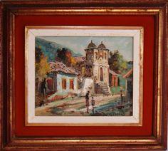 DURVAL PEREIRA - óleo sobre tela, assinado e belamente emoldurado. Medida da tela 22x27cm