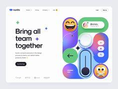 Nunito – Hero header by Tran Mau Tri Tam ✪ Company Job, Kohaku, All Team, Ui Design Inspiration, Design Process, App Design, Branding, Hero, Social Media