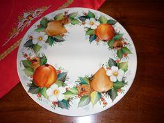 Christmas cake plate by Angela Davies