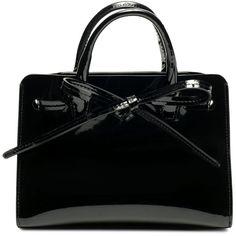 Patent Mini Mini Sun Bag ($395) ❤ liked on Polyvore featuring bags, handbags, mini purses, patent purse, patent bag, mini handbags and miniature purse