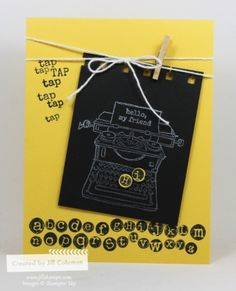 Tap Tap Tap Daffodil Chalkboard by jillastamps - Cards and Paper Crafts at Splitcoaststampers