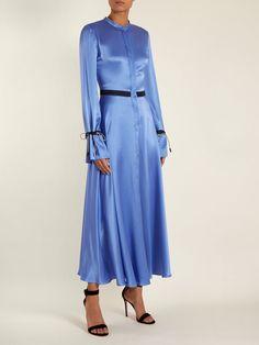 Zaelie silk-charmeuse dress | Roksanda | MATCHESFASHION.COM UK Silk Satin Dress, Silk Skirt, Satin Dresses, Bride Dresses, Blue Fashion, Womens Fashion, Silk Charmeuse, Roksanda, Indian Dresses