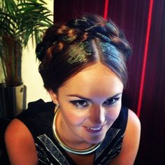 Braided Updo With Hair Stencils Hair Stenciling, Cool Hair Designs, Dance Photo Shoot, Beauty Boost, Hair Color For Black Hair, Hair Colour, Different Hairstyles, Hair Painting, Braided Updo