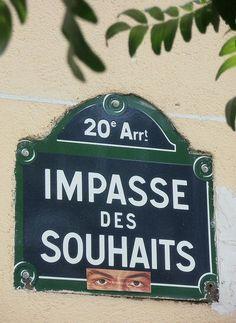 #Impasse des Souhaits - #Paris!20ème... Je vous les souhaite nombreux pour #2016