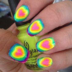 neon rainbow hearts <3