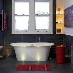 Sleek black bathroom | Small bathroom | housetohome.co.uk | Home ...