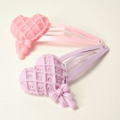 Sweet Lolita Hair Snap Clip Pastel Lace Lollipop With Bow - You Choose. $3.50, via Etsy.