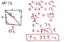 Geometry Ch 8 Test Rev #10