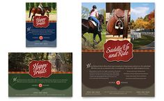 Horse Riding Stables & Camp Flyer & Ad Template Design | StockLayouts