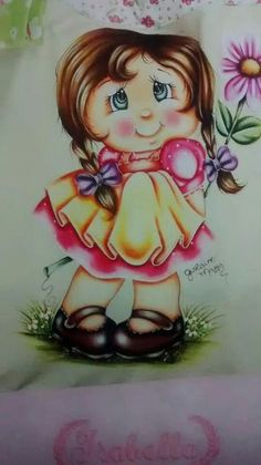 Pintura em Tecido Passo a Passo: Pintura de boneca em tecido