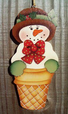 Snow Cone Christmas Ornament by stephskeepsakes on Etsy, $6.50