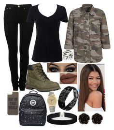 """""""Cami"""" by karressguidycapers ❤ liked on Polyvore featuring MM6 Maison Margiela, Simplex Apparel, Timberland, Forever 21, Kate Spade, Erica Lyons, ASOS and Geneva"""