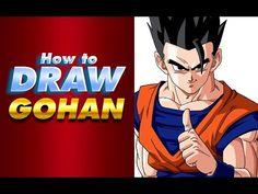 Cómo dibujar a GOHAN   How to draw Gohan   Dragon Ball