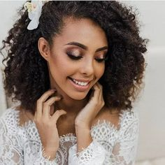 """25 Styles That Prove Saying """"I Do"""" With Your Natural Hair Is.- 25 Styles That Prove Saying """"I Do"""" With Your Natural Hair Is Beautiful Makeup, Beauty, Hair & Skin Natural Hair Wedding, Wedding Curls, Curly Wedding Hair, Beach Wedding Hair, Natural Hair Updo, Wedding Hair And Makeup, Bridal Hair, Natural Hair Styles, Natural Hair Brides"""
