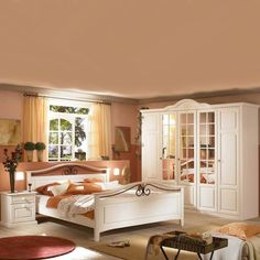 Schlafzimmer Veneto Plus | Im Romantischen Landhausstil Gehalten ... Schlafzimmer Oslo