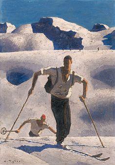 ALFONS WALDE Oberndorf in Tirol 1891-1958 Kitzbühel Aufstieg