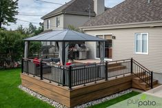 Pergola Ideas For Patio Key: 1655149911 Gazebo On Deck, Pergola With Roof, Pergola Patio, Diy Patio, Pergola Ideas, Patio Decks, Small Pergola, Modern Pergola, Covered Pergola