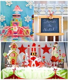 Christmas Brunch Party with Lots of Really Cute Ideas via Kara's Party Ideas Cake, decor, cupcakes, games and more! KarasPartyIdeas.com #chr...